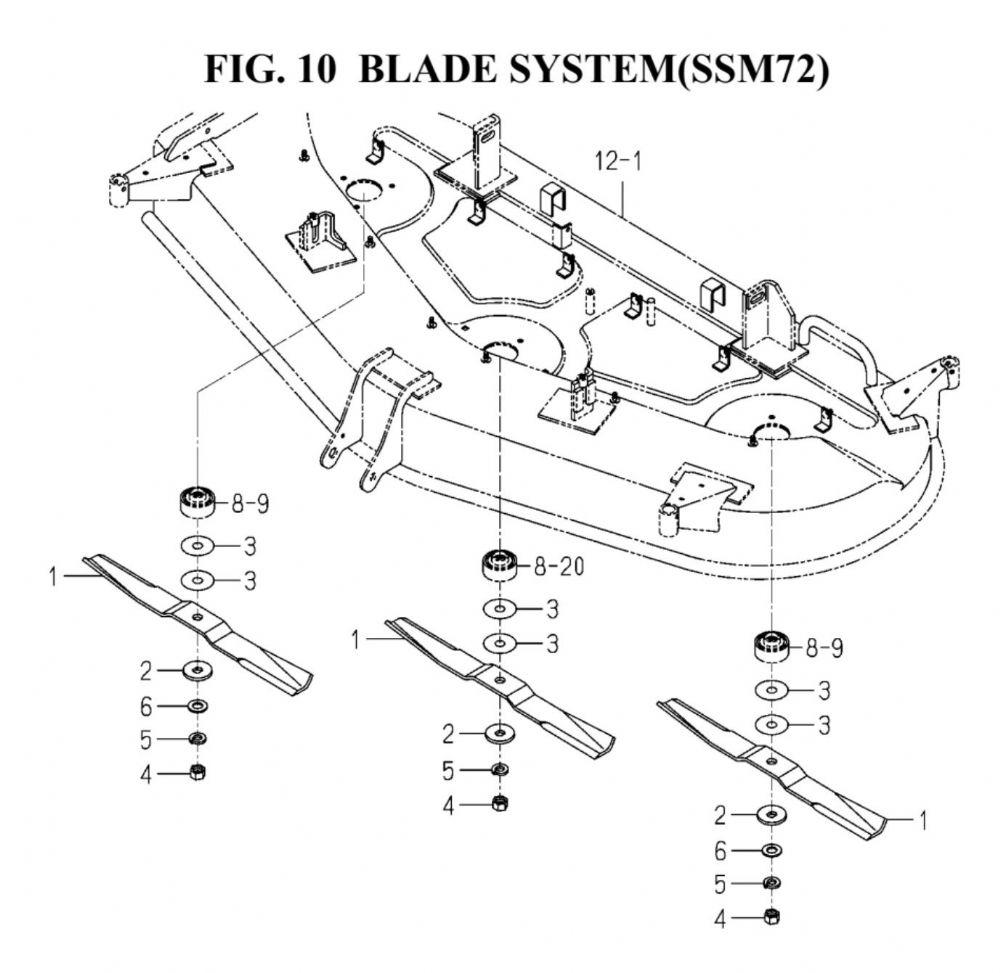 Genuine ISEKI TG5390 72 SSM72 Deck Mower Blade Part Number