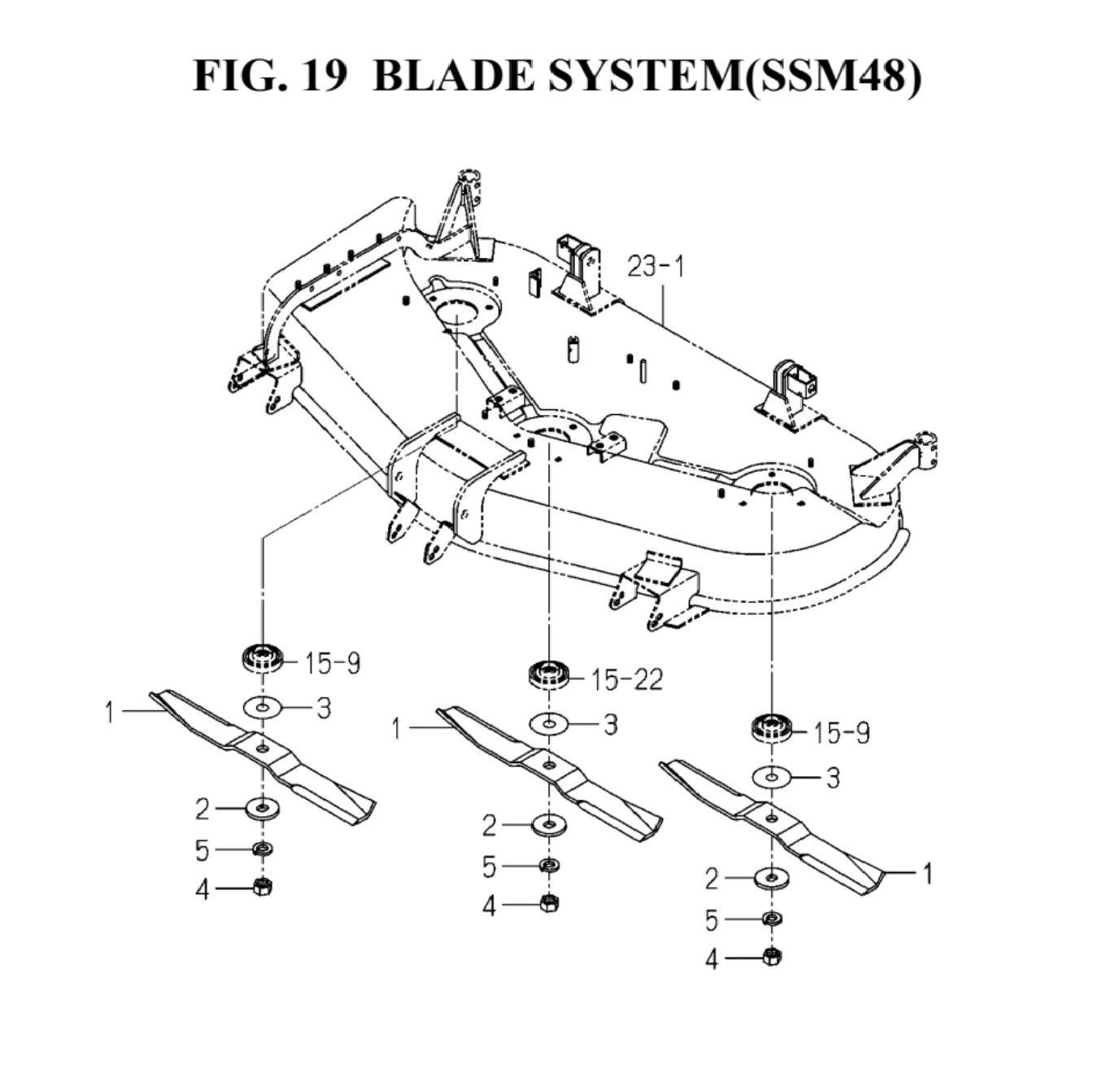 Genuine ISEKI TGX23F 48 SSM48 Deck Mower Blade Part Number