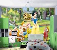 Snow White Cartoon Full Wall Mural Print Decal Wallpaper ...
