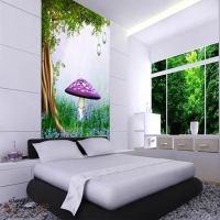 Fantasy Purple Mushroom Full Wall Mural Large Print Decal ...
