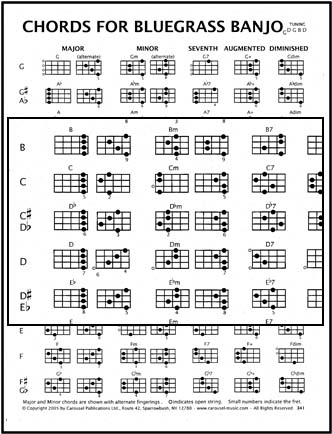 bluegrass banjo chords