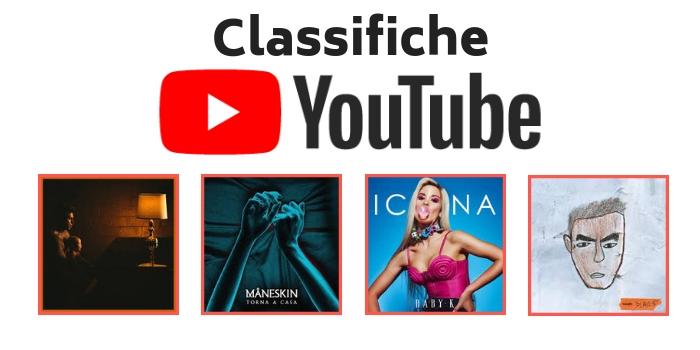 Classifiche Youtube Guidano Maneskin Fedez E Baby K