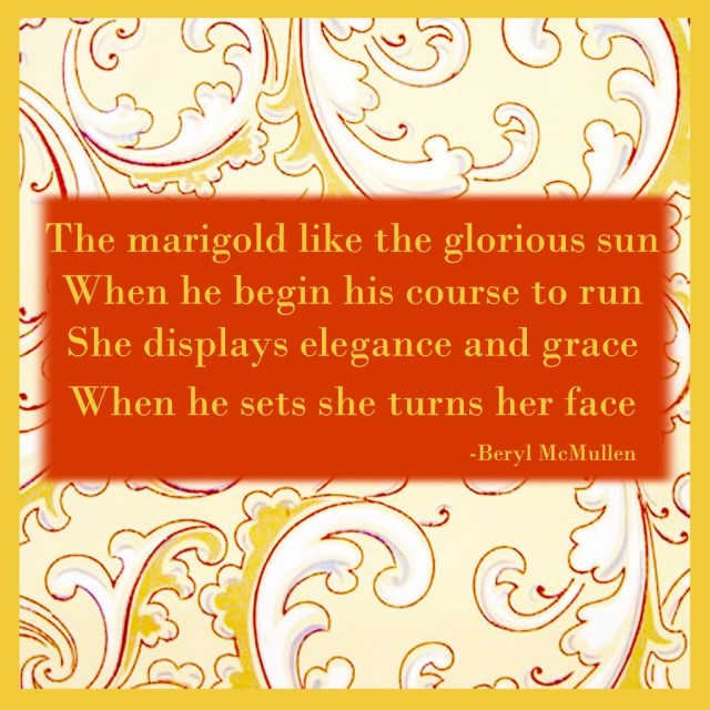 summer quotes, marigold, allmyfriendsareflowers.com
