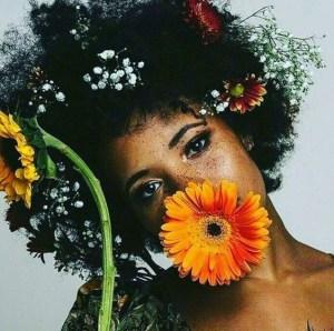 beauty editorial flowers