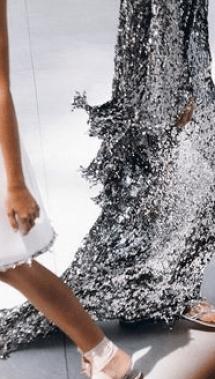 silver flowey dress
