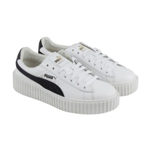 rihanna sneakers black and white