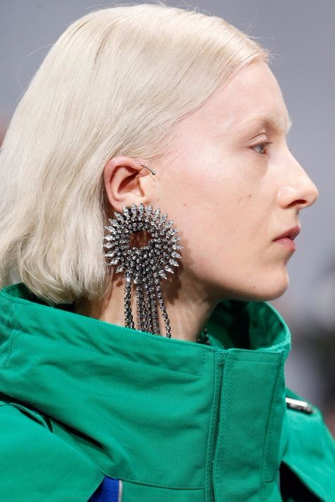 earrings, model accessories, designer earrings, designer ear cuffs, doir piercings, balenciaga ear cuff