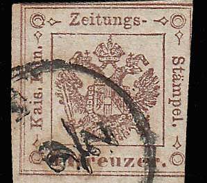 Austria #PR4 Fine Used 1858 issue APS cert