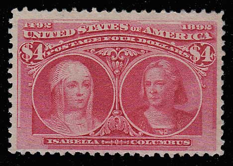 U.S.A. #244 Fine Unused 1893 $4 Columbian