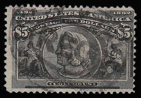 U.S.A. #245 1893 $5 Columbian