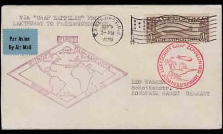 U.S.A. #C14 1930 Graf Zeppelin Flight Cover
