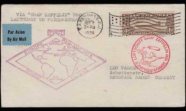 U.S.A. #C14 1930 Graf Zeppelin Flight Cover