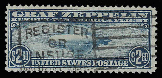 U.S.A. #C15 F/VF Slogan Cancel Used $2.60 Zep crease
