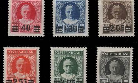 Vatican City #35-40 F/VF Mint HR 1934 Set #39 cr