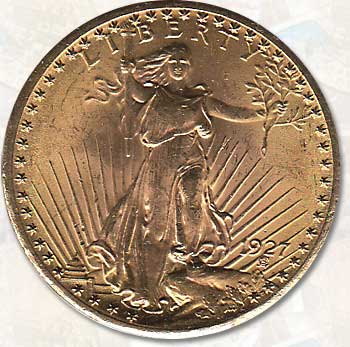 U.S.A. choice AU 1927 St. Gauden's Gold Double Eagle
