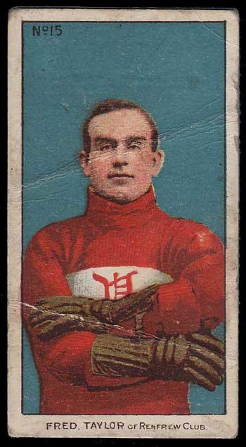 1910/11 Cyclone Taylor C56 #15 Rookie Hockey Card cr