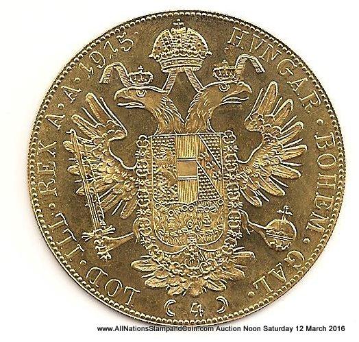 Austria Proof 1915 Gold 4 Ducat AGW.4398oz