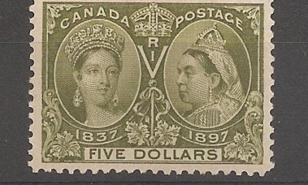 Canada #65 VF Mint HR 1897 $5 Jubilee marvelous example