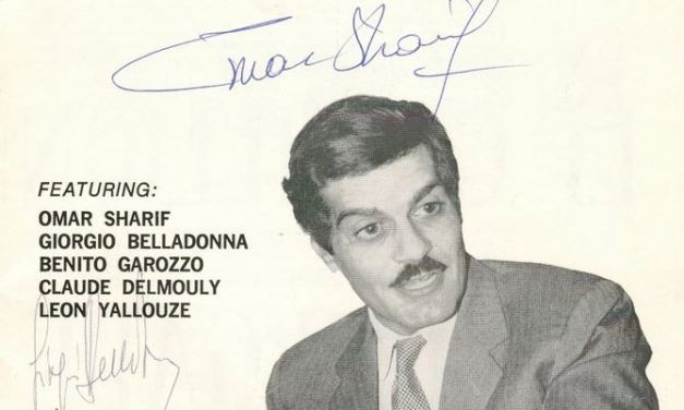 Omar Sharif & Claude Delmouly signed 1968 Montreal Bridge Circus Program