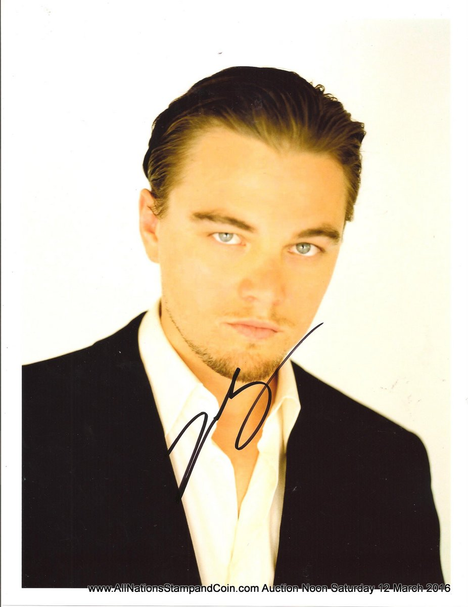 Leonardo DiCaprio Autographed colour 8x10 with Certificate of Authenticity