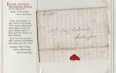 Oldest letter 1854 H.B.C. Alaska/Ft Simpson 3-page FLS ex Wellburn