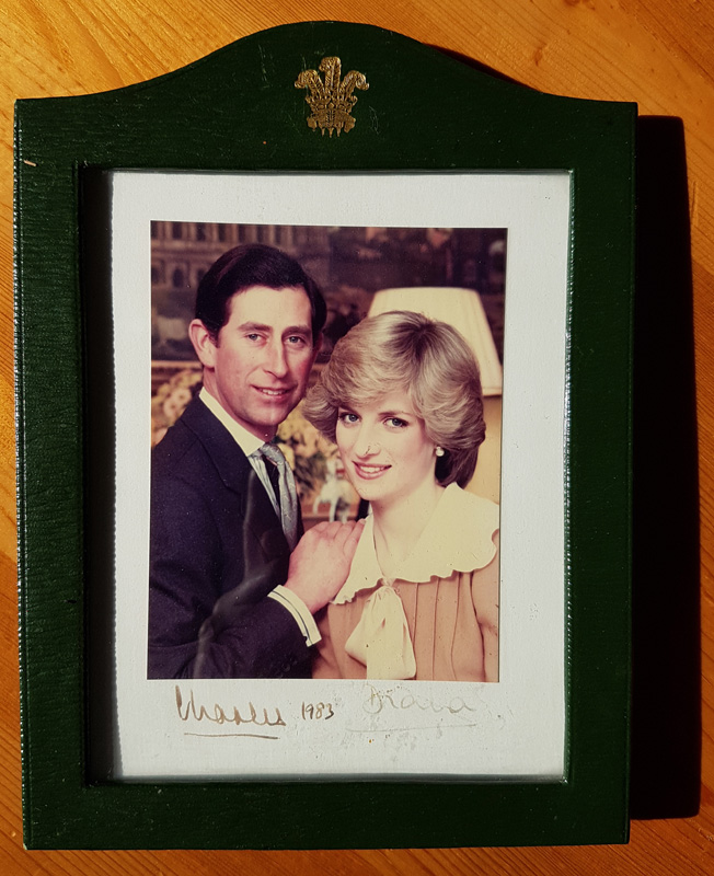 lot 1 Prince Charles and Princess Diana signed photo from Royal Tour of Newfoundland