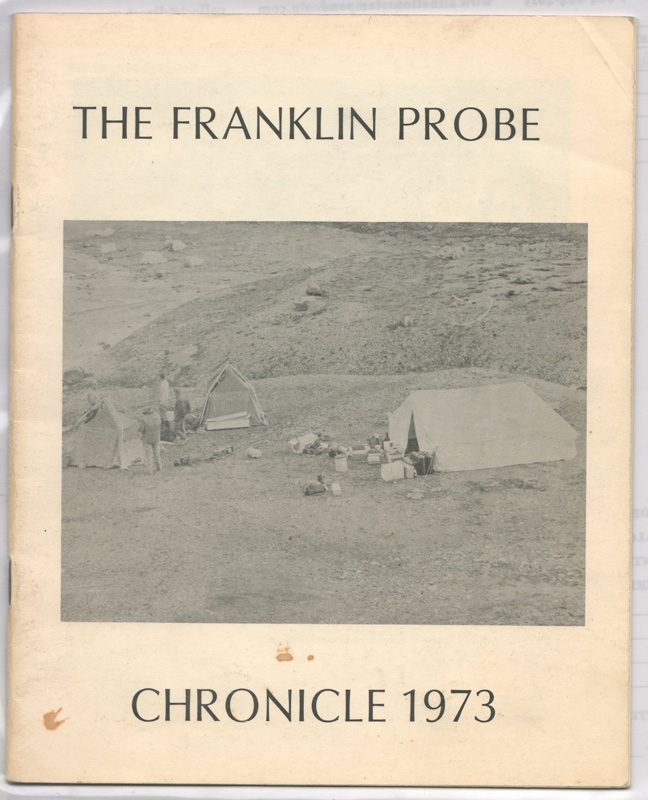 The Franklin Probe Chronicle 1973 10-page Expedition hunt leaflet