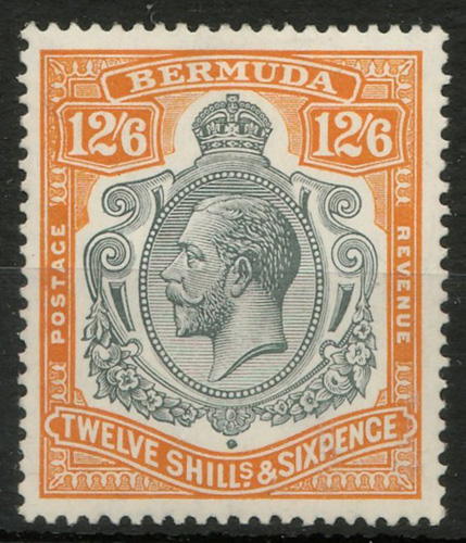 Lot 11 Bermuda #97 Mint 1932 12/6d George V