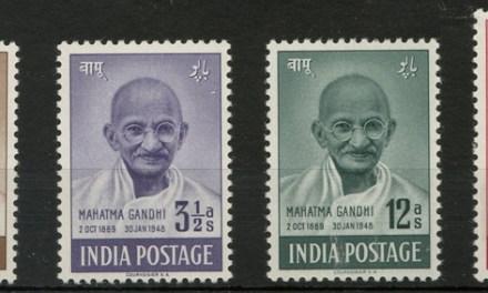 India #203-206 1948 Gandhi Set