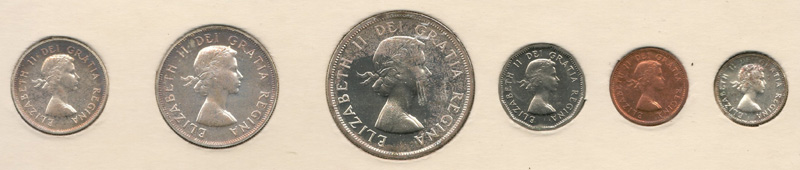 Canada Proof-like 1956 6-coin obv