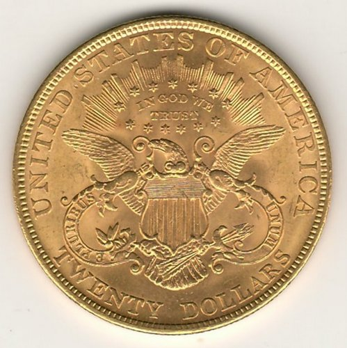 lot 188 U.S.A. BU 1904 Liberty Head $20 Gold Double Eagle .9675oz AGW