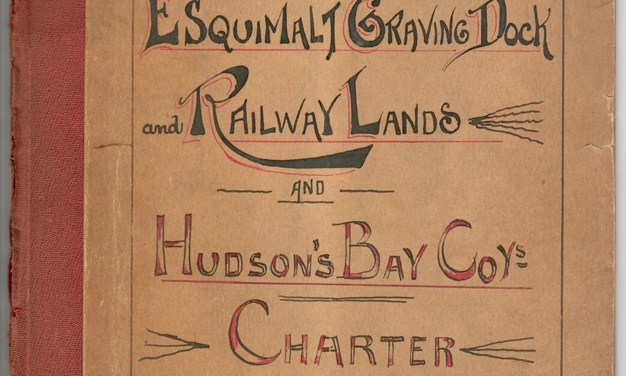 Vancouver Island Railway, Esquimalt Graving Dock & H.B.C. Charter