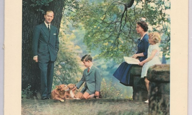 Elizabeth II & Philip Signed 1957 Christmas Card