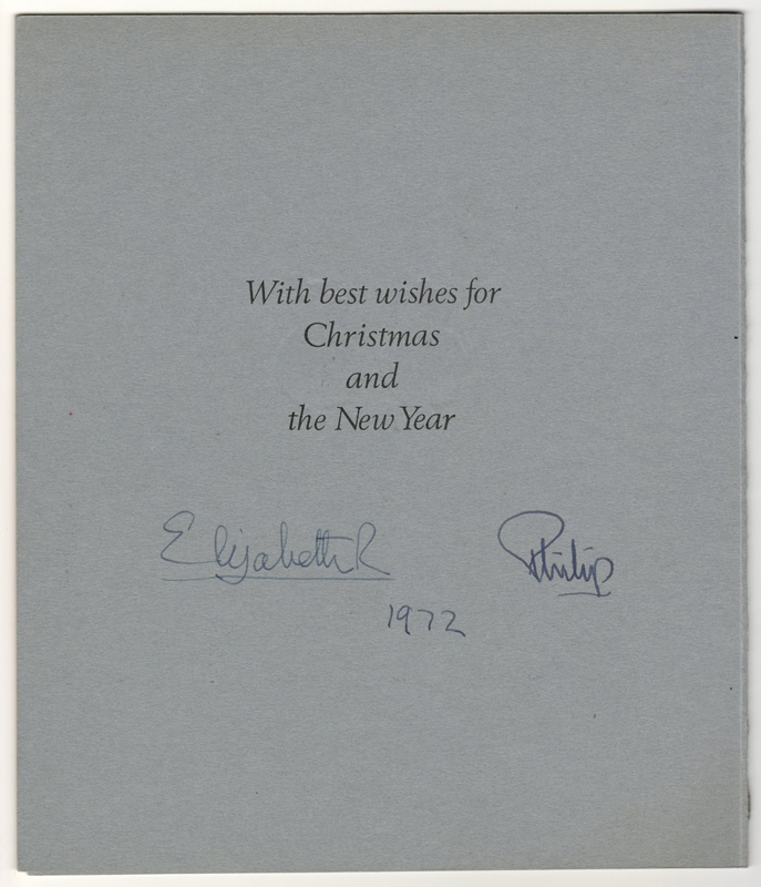 Royal signatures on Christmas Card