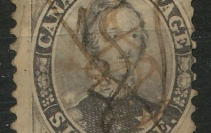 Canada #13 Fine Used 1859 Perforated 6 Pence