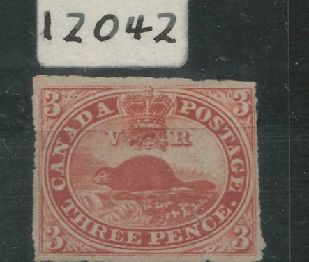 Canada #4c Unu 1857 3d Beaver