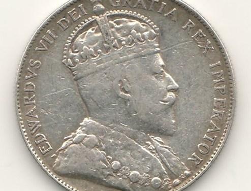 Canada VF 1904Silver 50 Cents