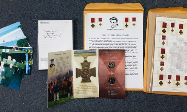 Smokey Smith Signed 2004 Victoria Cross Sheet & related ephemera