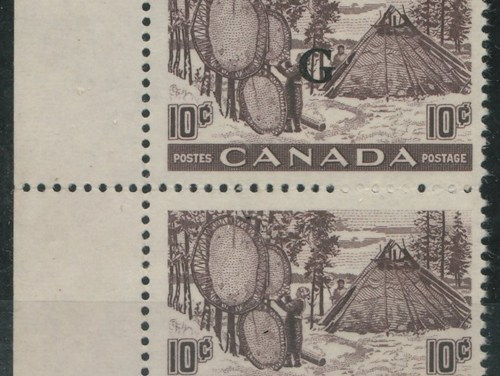 Canada #O26a VFNH Missing G Variety in pair