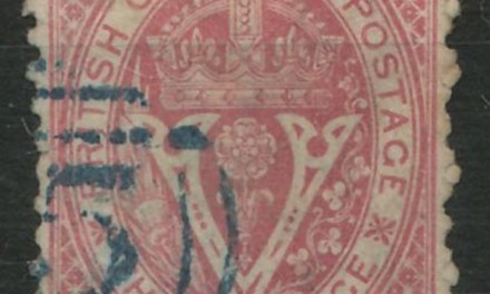 British Columbia #15 Fine Used 1869 10c on 3d
