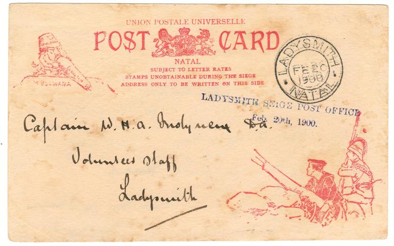 Boer War 20 Feb 1900 Siege of Ladysmith Postcard