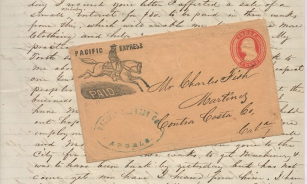 Pacific Express 30 Dec 1856 Paid 3c Angel's Camp 2-page letter