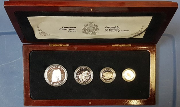 Canada Proof 1990 4-coin Platinum Polar Bear set