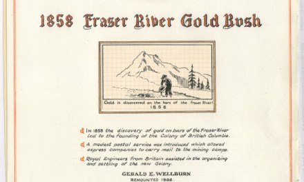 Page 1 Frontispiece of the 1858 Fraser River Gold Rush collection by Gerald Wellburn