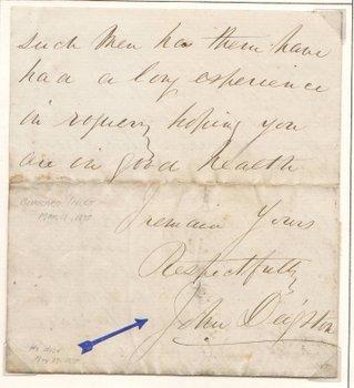 The Gassy Jack signature!