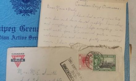 Winnipeg Grenadiers C Force 8 Dec 1941 cover, and letter