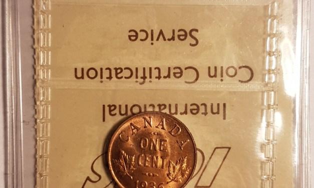 Canada ICCS MS64 1936 Red Cent ex Pittman