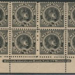 Newfoundland #58 1894 1/2c Black Imprint Block (8)