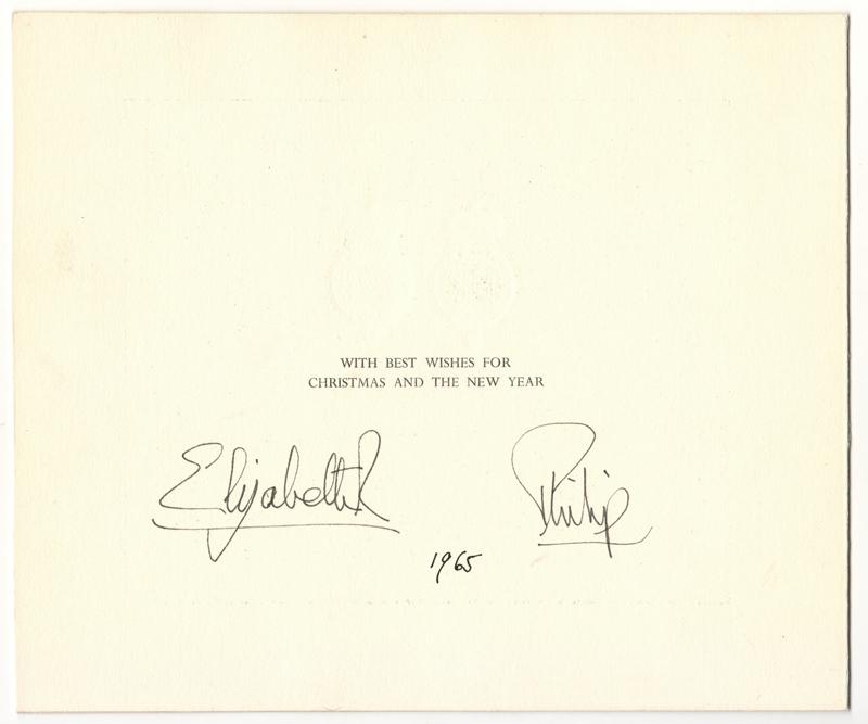 Queen Elizabeth II & Philip Signatures 1965