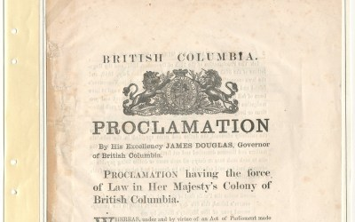Page 10 British Columbia 8 Feb 1859 Proclamation of Duties Payable by Miners